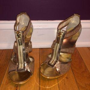 Michael Kors Berkley T-strap sandals (gold)